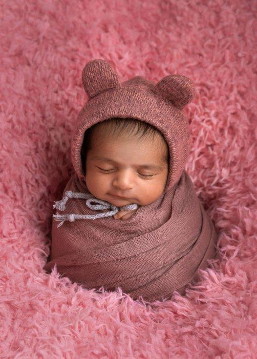Newborn photoshoot in studio