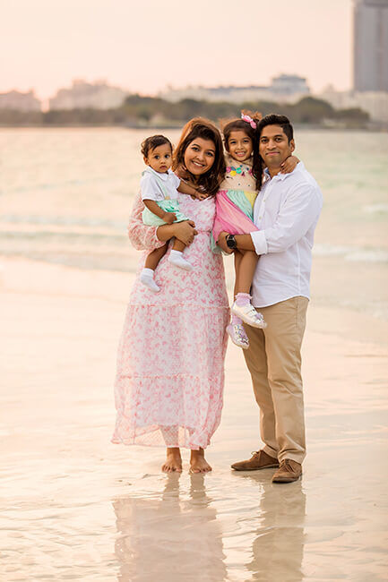 Family Photoshoot at Dubai Beach