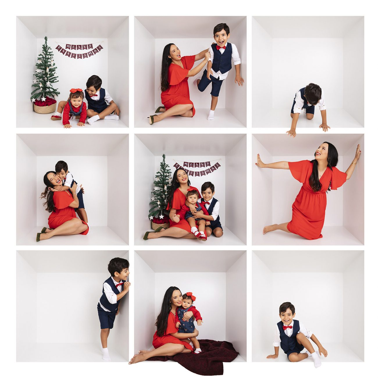 Christmas photoshoot in a studio in Dubai
