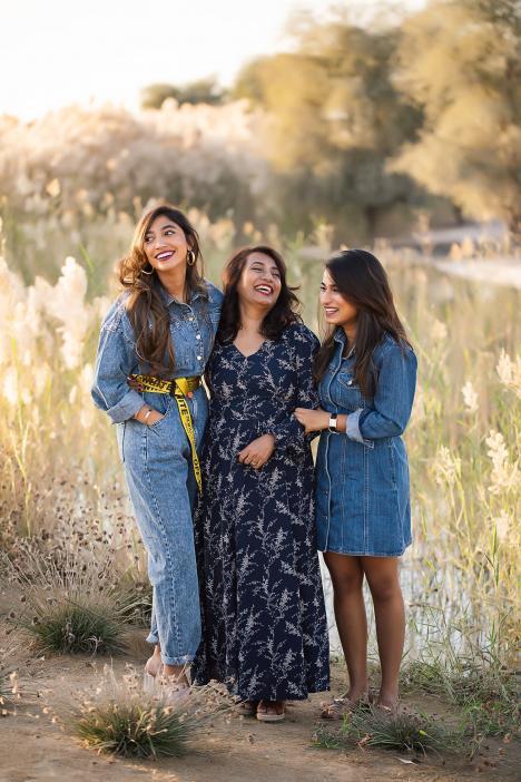 Family photoshoot in Al Qudra desert, Dubai