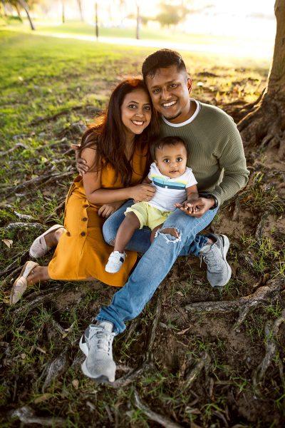 Family photoshoot in Al Quoz pond park, Dubai