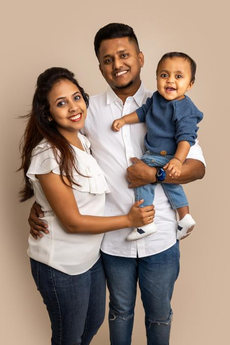 Family photoshoot in Dubai studio