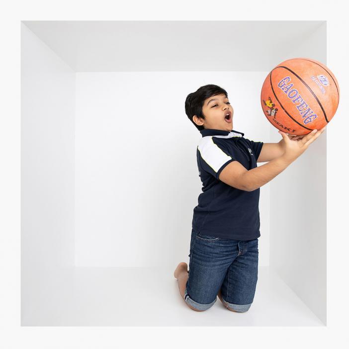 Inside the box photoshoot in Dubai studio