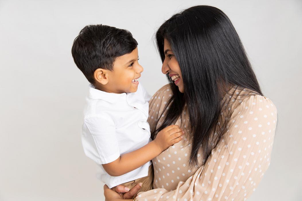 Family photoshoot in Dubai studio