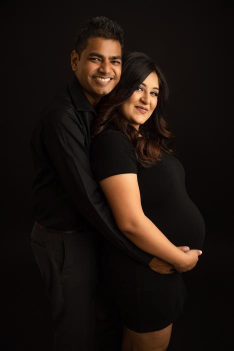 Maternity photoshoot in Dubai Studio, Barsha South
