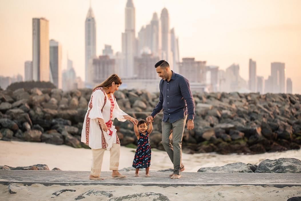 Family photoshoot in Dubai sufouh beach